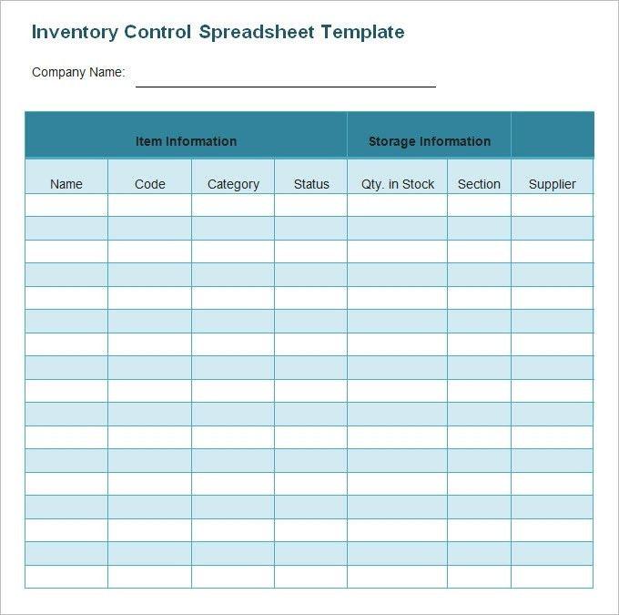 Inventory Template | ebook