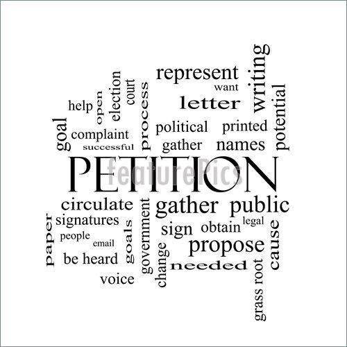 Illustration Of Petition Words