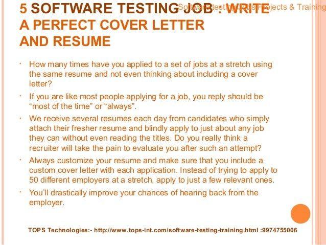 17+ [ Software Tester Sample Resume ] | International Business ...
