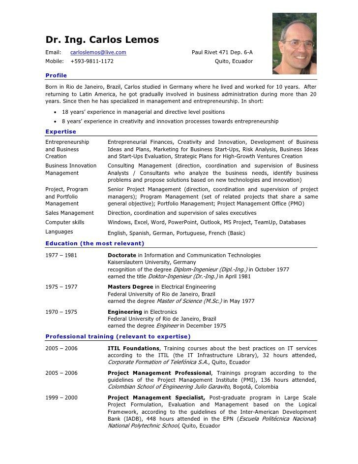 curriculum vitae format of good resume what is your birthdate in ...