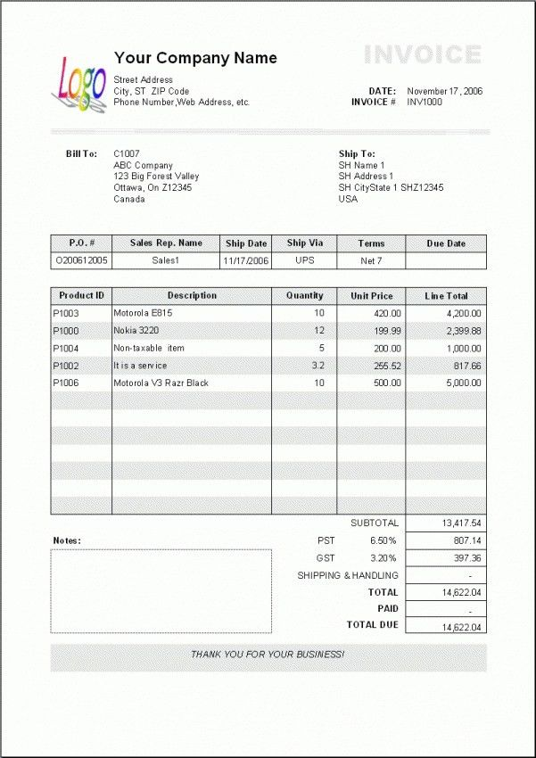 Download Cash Invoice Format in Word | rabitah.net