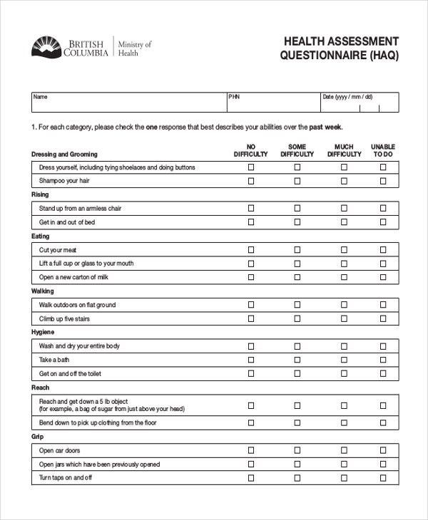 Health Assessment Template. Click Here To Download This Health ...