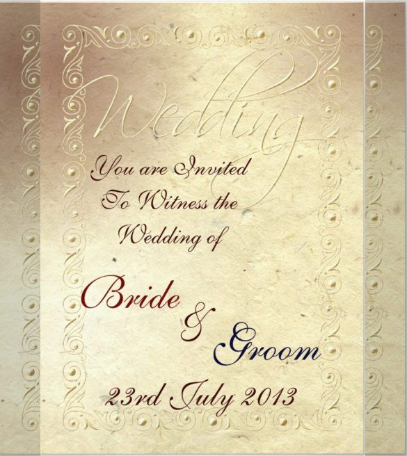 23+ Handmade Wedding Invitation Templates – Free Sample, Example ...