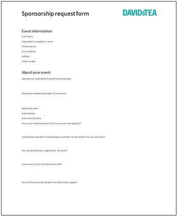 Sponsorship Form. Stunning Fundraising Sponsorship Form Ideas ...