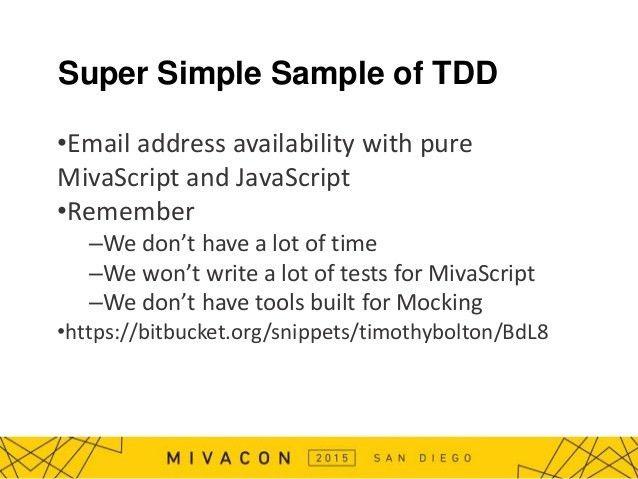 Test driven development (java script & mivascript)