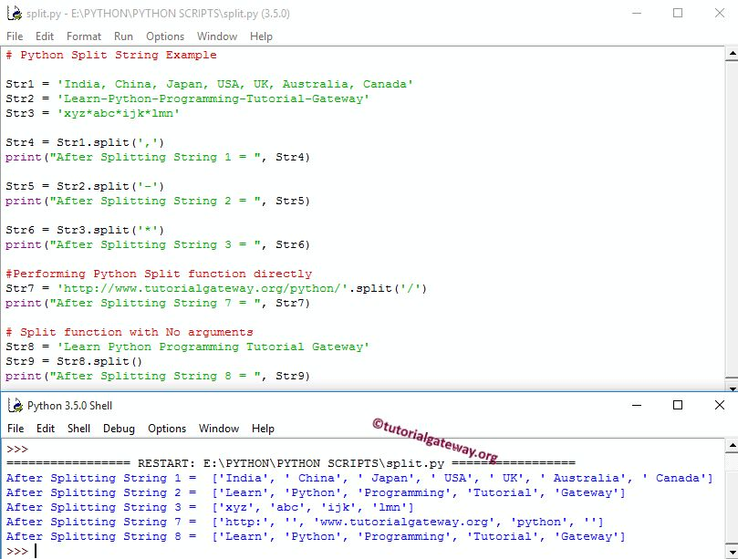 Python Split String