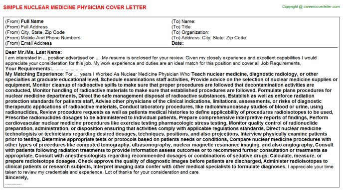 Physician Recruiter Cover Letters