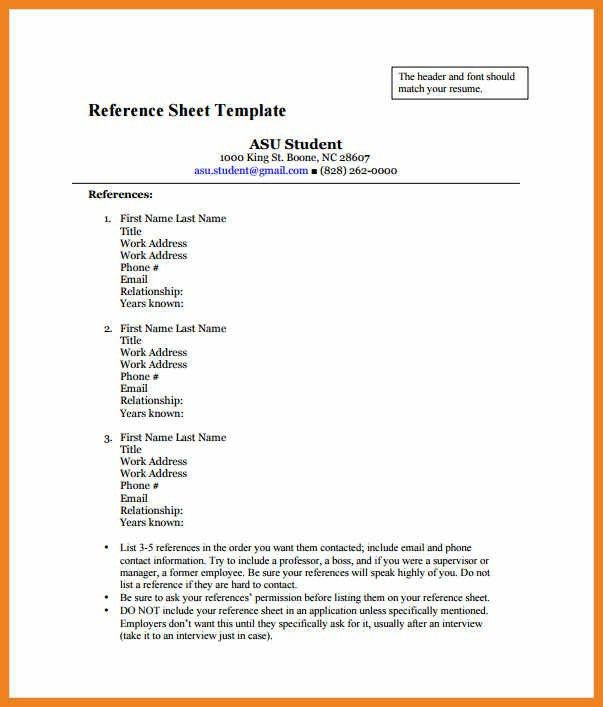 job references format | teller resume sample