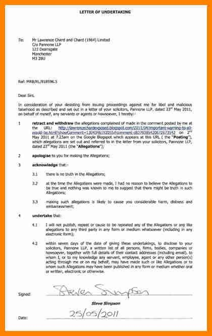 9+ undertaking letter format for employee | job resumed