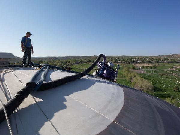 Shot blast cleaning tank roofs and floors, Shot Blast Equipment