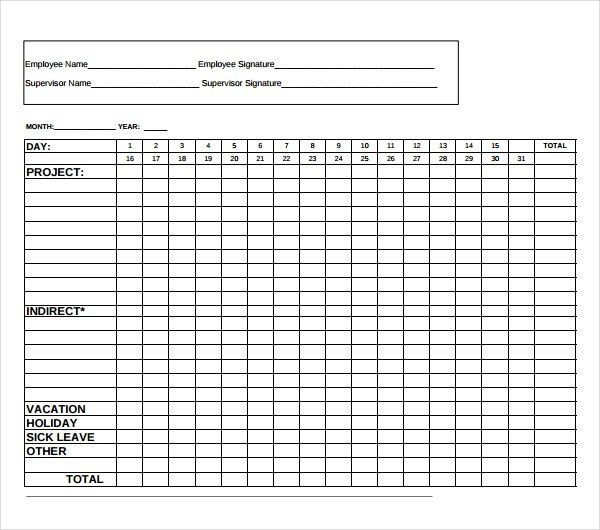 12+ Time Tracking Templates – Free Sample, Example Format Download ...