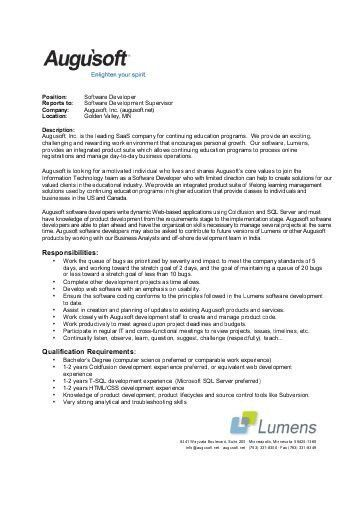 roles and responsibilities java developer software engineer job. Resume Example. Resume CV Cover Letter