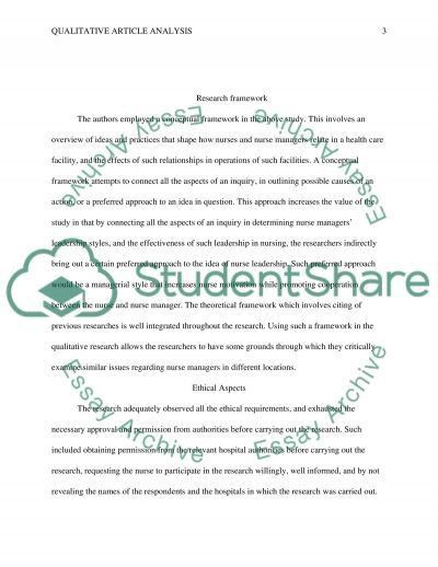 Qualitative Article Critique- The Nature of Leadership Style in ...