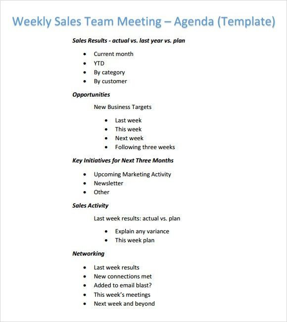 weekly meeting agenda - thebridgesummit.co