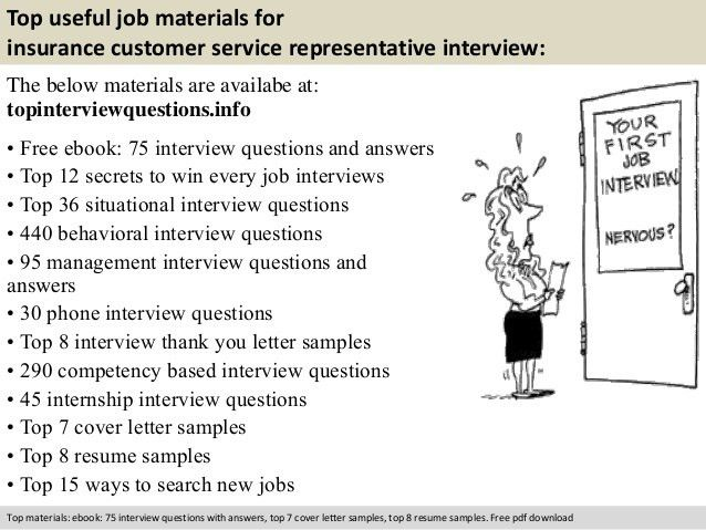 Insurance customer service representative interview questions
