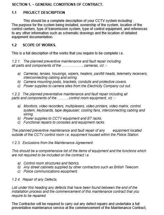 9 Free Sample Maintenance Agreement Templates – Printable Samples