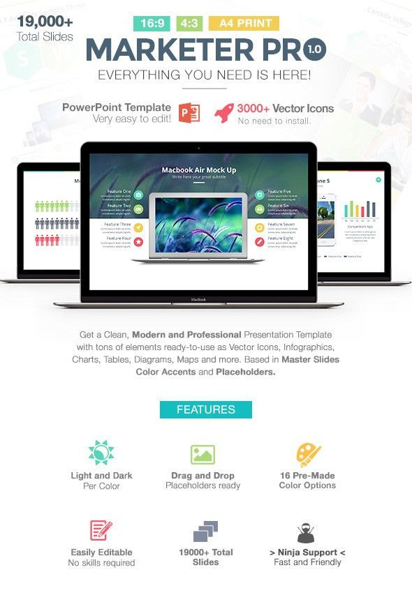 Marketer Pro Powerpoint Template by LouisTwelve-Design | GraphicRiver