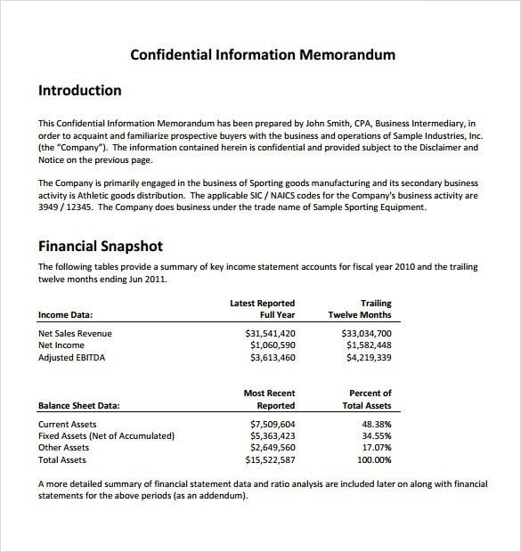 Sample Confidential Memo - 6+ Documents In PDF