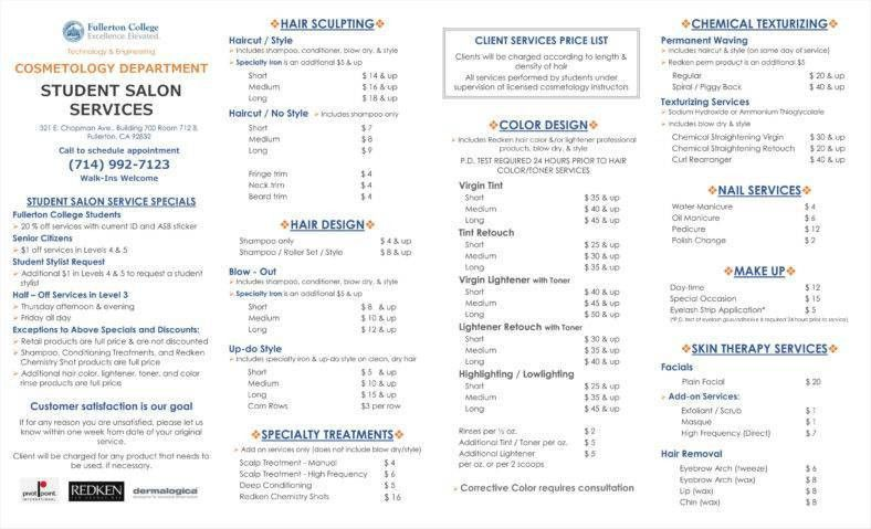 29+ Sample Price List Templates - Free DOC, PDF, Excel Format ...