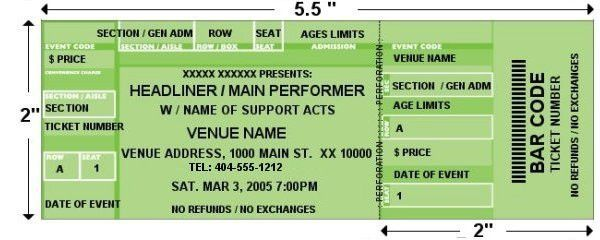 Custom event tickets. Design and print your own custom event tickets