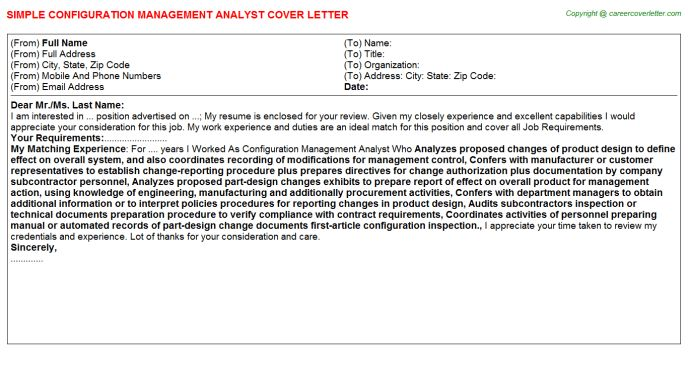Workforce Management Analyst Cover Letters