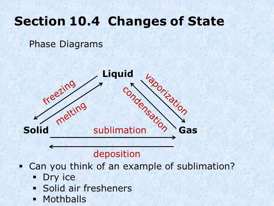 Chapter 10: States of Matter - ppt download