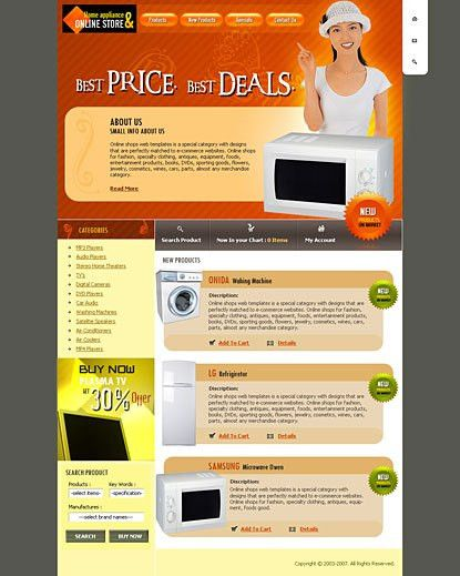 Ebay auction free templates for home appliances
