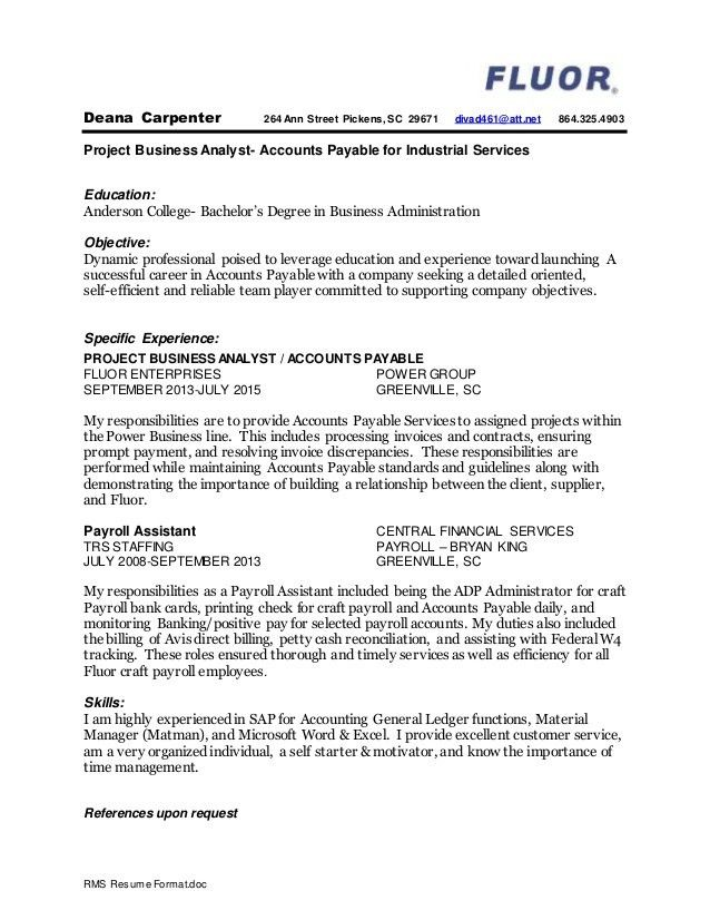 Completed Resume Examples