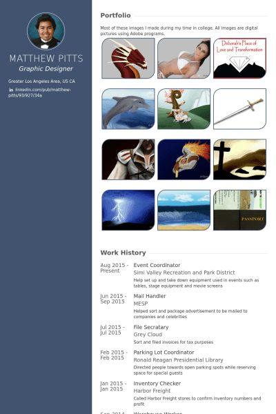 Event Coordinator Resume samples - VisualCV resume samples database