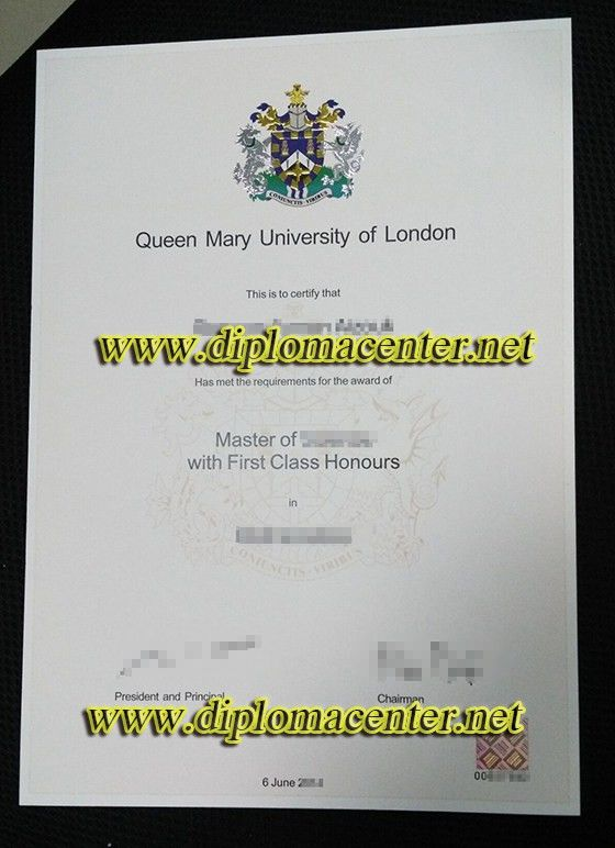 Queen Mary university of London Master degree certificate, QMUL ...