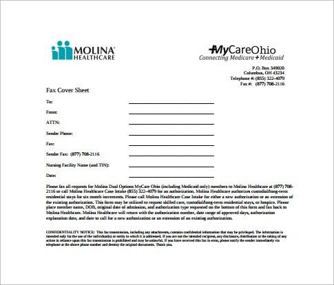 Sample Blank Fax Cover Sheet - 9+ Free Samples, Examples, Format