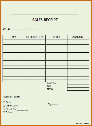 7+ sales receipt template | Authorizationletters.org