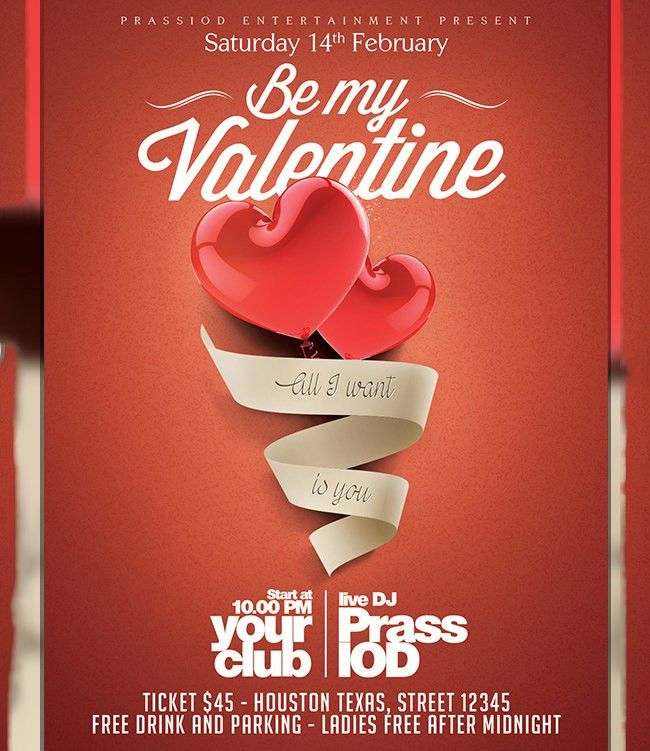 53+ Fabulous PSD Valentine Flyer Templates & Designs | Free ...