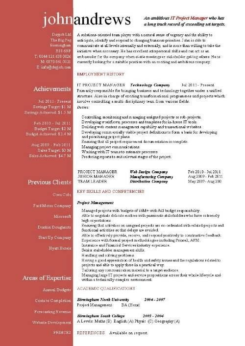 Construction Project Manager Resume Examples. Project Management ...