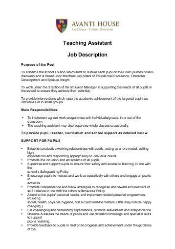 Job Description – Assistant Head Teacher Westfield Primary ...