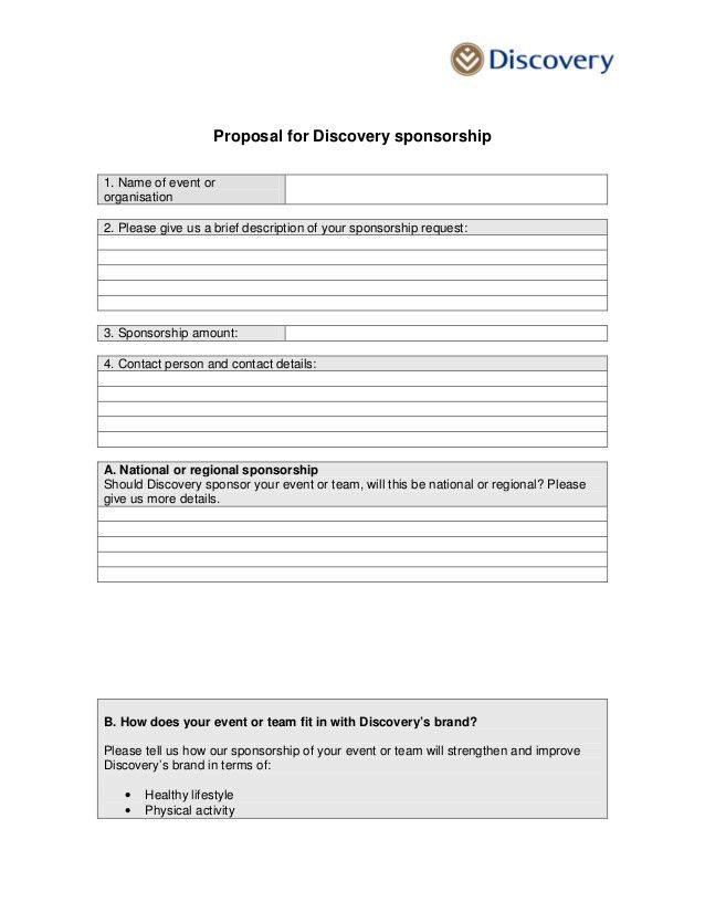Sponsorship proposal letter