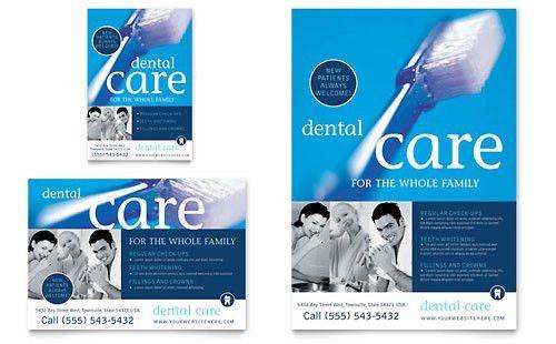 Dentist Office Brochure Template Design