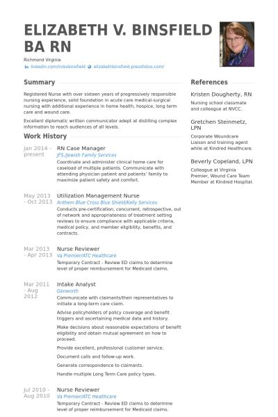 Case Manager Resume samples - VisualCV resume samples database