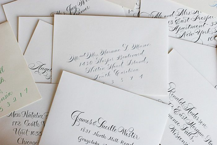 Calligraphy envelope addressing etiquette questions