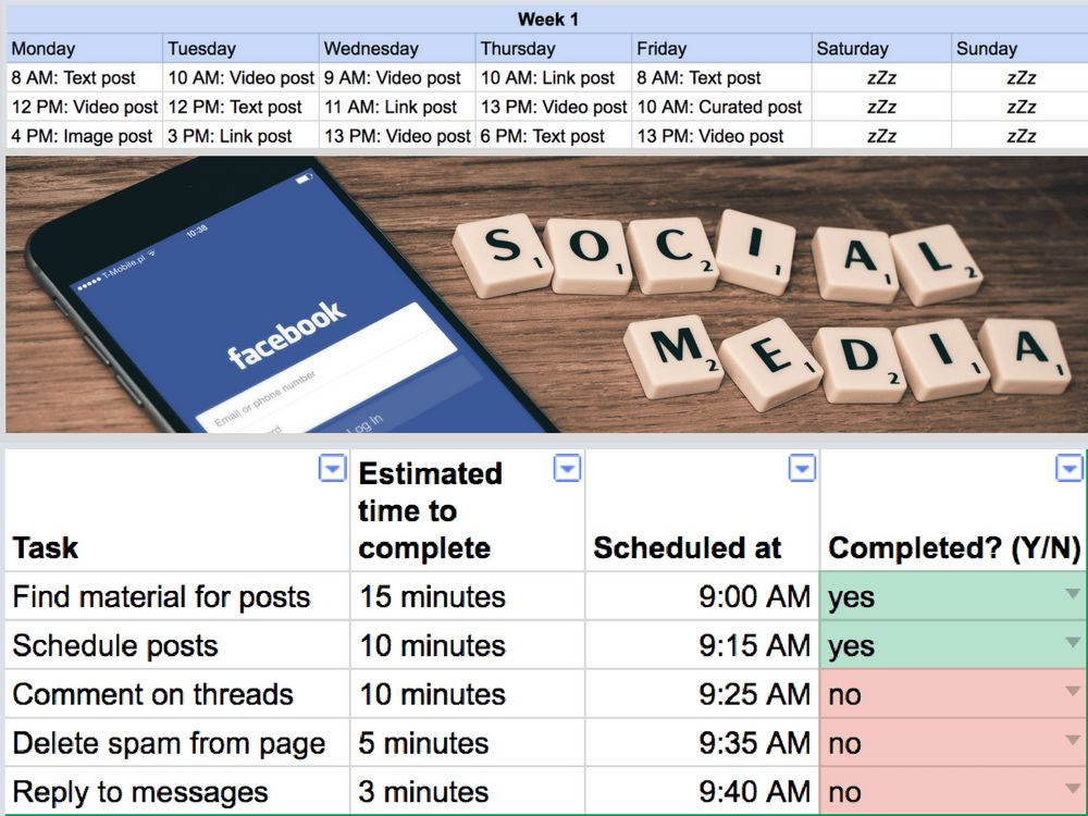 Free Facebook Marketing Strategy Template | FB Marketing Strategy Plan