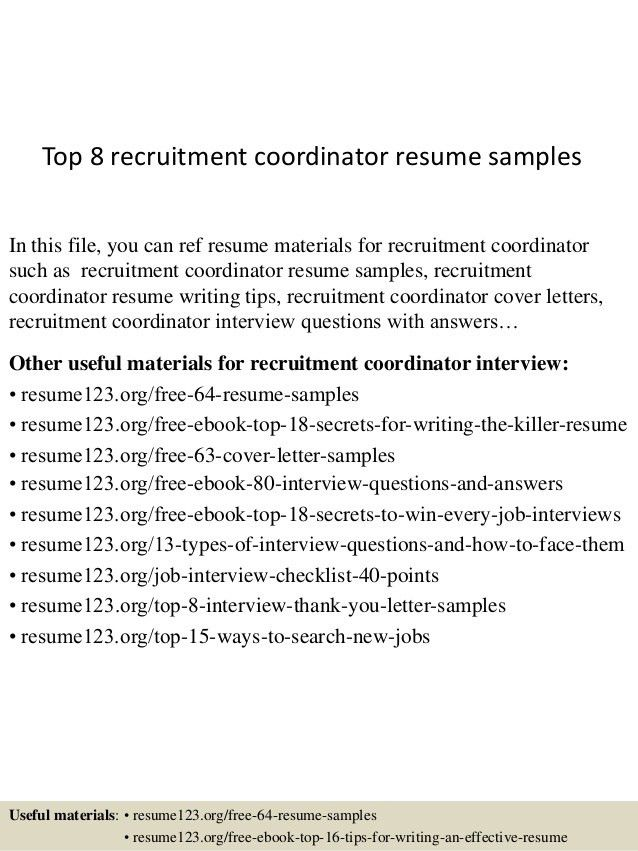 sample volunteer recruiter resume radiovkm - it recruiter resume