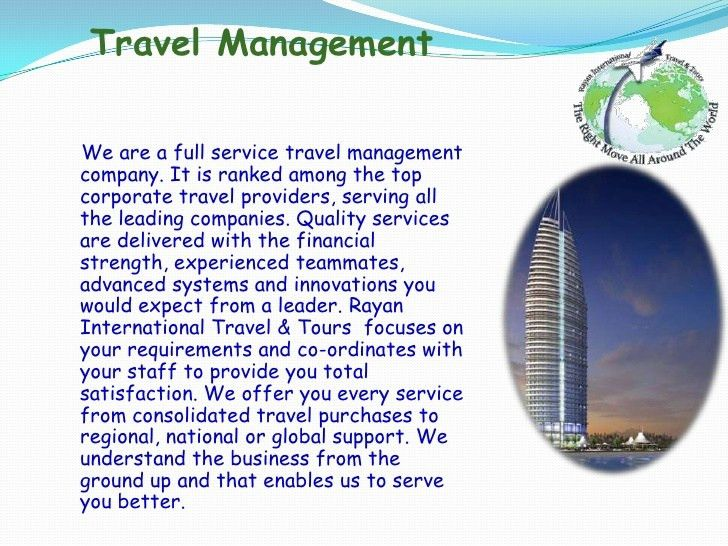 Profile Presentation (Rayan International Travel & Tours)