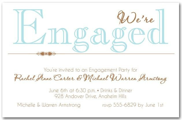 Party Invitations: 10 Engagement Party Invitation Wording Sample ...