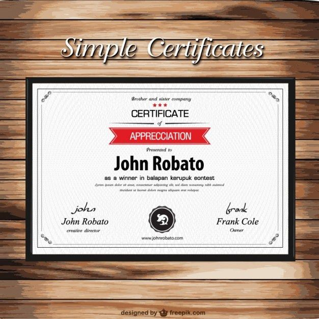 simple, modern, black, white, and red. | certificate design ...