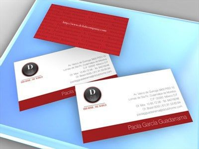Business Card - Business card design for project The Diplomatic Club
