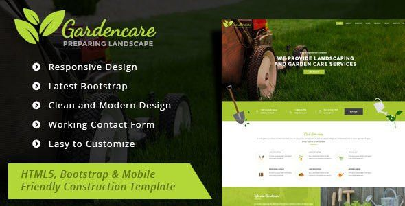 Garden Care - Gardening and Landscaping Bootstrap Template by ...