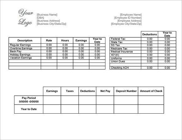 Payroll Template – 15+ Free Word, Excel, PDF Documents Download ...