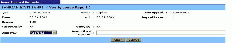 usermanual of leave online application