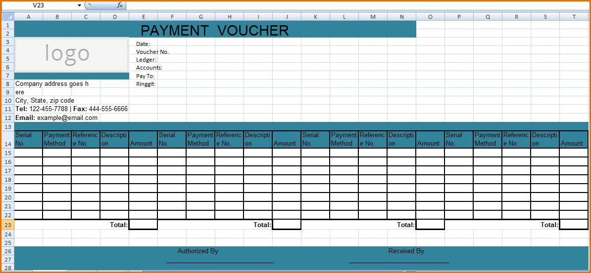 8+ payment voucher template | Job Resumes Word