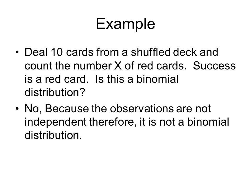 The Binomial Distributions - ppt download